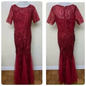 Ever Pretty Short Sleeve Sequin Mermaid Gown